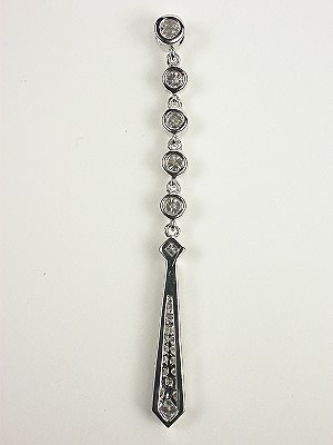 Vintage Style Diamond Drop Pendant