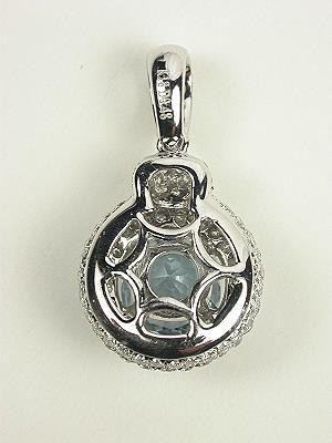 Aquamarine Vintage Style Pendant