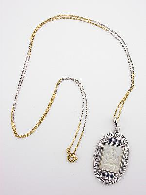 Mother of Pearl and Diamond Pendant