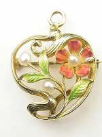 Art Nouveau Antique Pendant Brooch