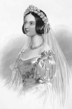 Queen Victoria in Her Wedding Dress