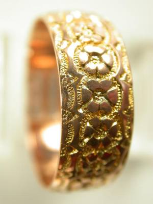 Yellow and Rose Gold Antique Wedding Ring