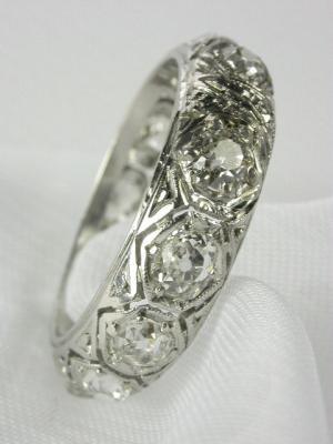 Edwardian Antique Filigree Wedding Ring