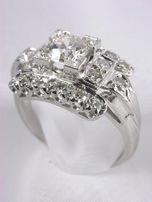 Art Deco  Antique Diamond Engagement Ring