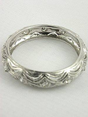 Antique Art Deco Filigree Wedding Ring