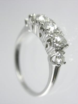 Edwardian Platinum and Diamond Wedding Ring