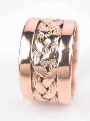 Rose Gold Antique Retro Wedding Ring