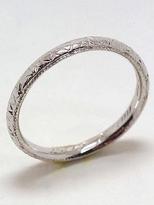 1927 Antique Carved Wedding Ring