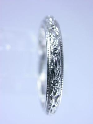 1925 Antique Carved Wedding Ring Rg 1224