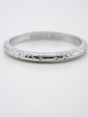 1920 S Antique Carved Wedding Ring Rg 1225