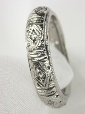 Art Deco Filigree Wedding Ring