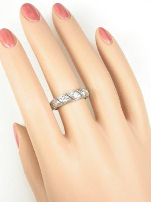 Filigree and Diamond Antique Wedding Ring