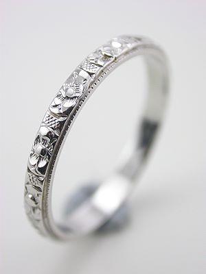 Carved Antique Wedding Ring