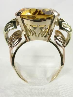 Retro Citrine Cocktail Ring