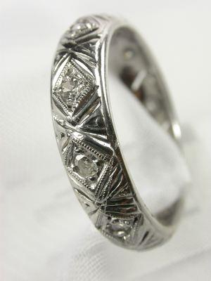 1954 Filigree Vintage Wedding Ring