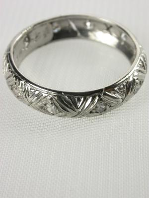 1954 Filigree Vintage Wedding Ring