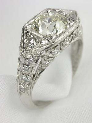 Edwardian Diamond Antique Engagement Ring