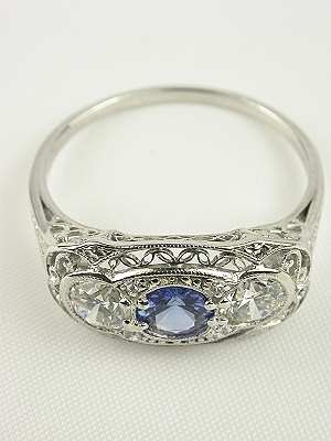 Antique Edwardian Filigree Ring