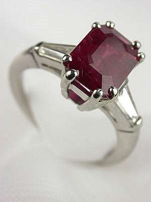 Classic Ruby Engagement Ring in Platinum