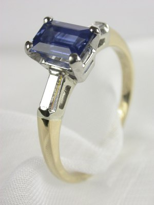 Sapphire Engagement Ring by A. Jaffe