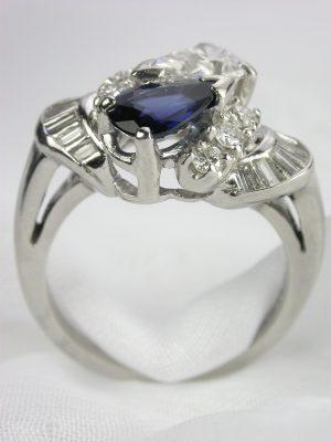 Sapphire and Diamond Vintage Ring