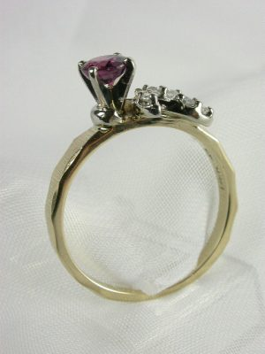 Estate Ruby Engagement Ring by A. Jaffe