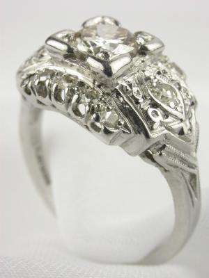 1950s Antique Diamond Engagement Ring
