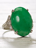 Art Deco Antique Jadeite Ring