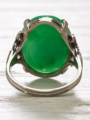 Art Deco Antique Jadeite Ring