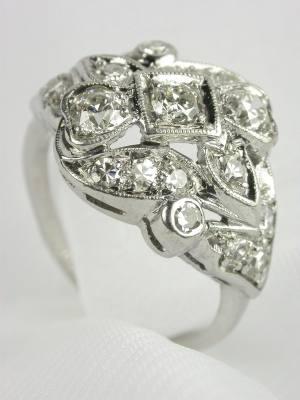 1930s Old European Cut Diamond Ring