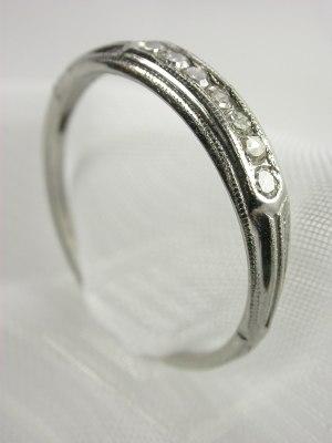 Platinum Antique Wedding Ring by Bristol