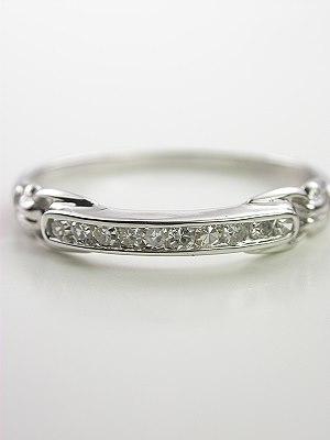 1945 Platinum Diamond Wedding Ring