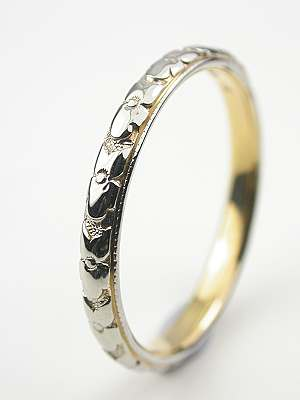 Antique Wedding Ring with Orange Blossom Motif
