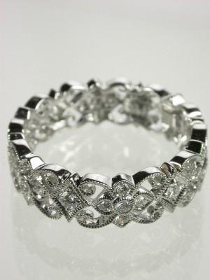 Beverley K Antique Style Diamond Wedding Ring