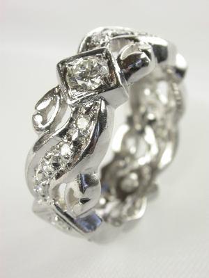 1955 Platinum Diamond Eternity Band