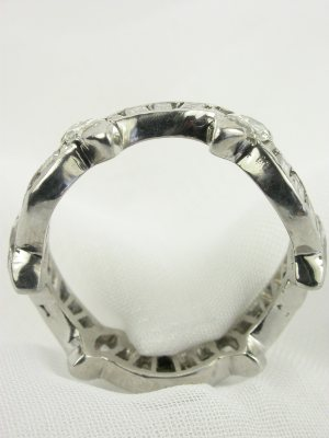 "1950s ""Wave"" Antique Diamond Eternity Band"