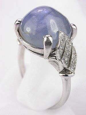1930s Cabachon Star Sapphire Antique Ring