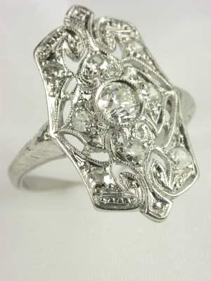 Edwardian Diamond Dinner Ring