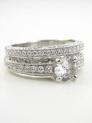 Paisley and Filigree Vintage Style Wedding Ring