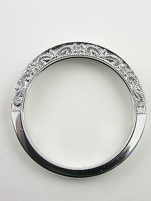Paisley and Filigree Diamond Wedding Band