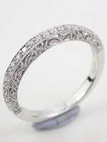 Paisley and Filigree Diamond Wedding Ring
