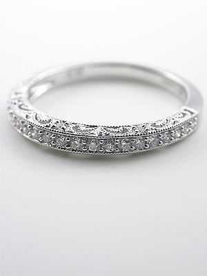 Paisley and Filigree Diamond Wedding Ring
