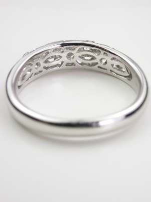Floral and Filigree Wedding Ring