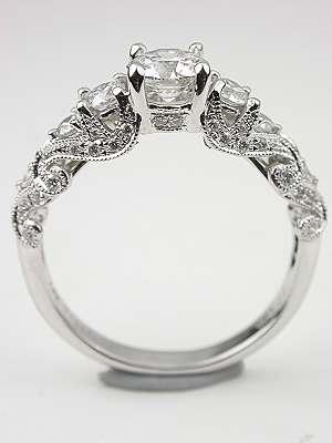 Swirling Diamond Engagement Ring