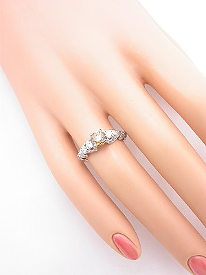 Swirling Champagne Diamond Engagement Ring