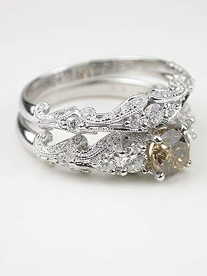 Swirling Diamond Wedding Band