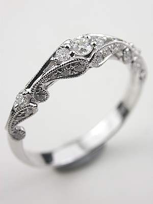 Swirling Diamond Wedding Ring