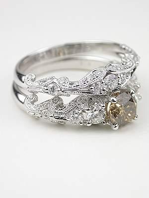 Swirling Diamond Wedding Ring