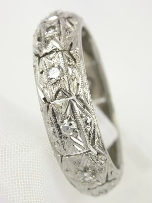 Pierced and Engraved Antique Wedding Ring