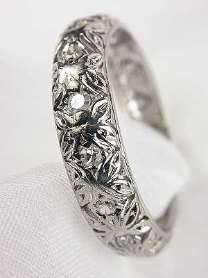 Antique Wedding Ring with Pierced Design